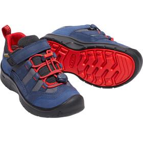 Keen Kids Hikeport WP Shoes Dress Blues/Firey Red